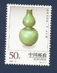 Stamps Asia - China -  Porcelana china de Huluping - Dinastia Yuan