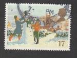 Stamps United Kingdom -  Confeccionando un muñeco de nieve