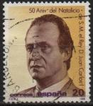 Stamps Spain -  50º aniversario dl´Natalicio d´S.S.M.M. l´Reyes d´España