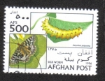 Sellos de Asia - Afganistán -  Gusano de Seda