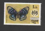Sellos de Asia - Bhután -  Mariposa Sephisa chandra