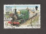 Sellos de Europa - Isla de Man -  Tren con locomotora de vapor