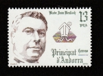 Stamps Andorra -  JObispo Joan Belloch