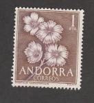 Stamps Andorra -  Flor Dianthus caryophyllus