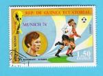 Stamps : Africa : Equatorial_Guinea :  MUNICH  74   BECKEMBAUER