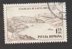 Stamps Romania -  Embarcaciones en el lago Bicaz