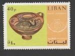 Sellos de Asia - Líbano -  Vasija decorada
