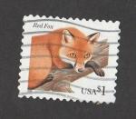Stamps United States -  Zorro rojo