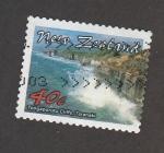 Stamps New Zealand -   Acantilados Tongaporutu