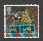 Stamps United Kingdom -  Domesticación león
