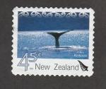 Stamps New Zealand -  Ballena