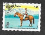 Stamps Burkina Faso -  Exposición Mundial de Filatelia Argentina´85