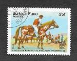 Sellos de Africa - Burkina Faso -  724 - Exposición Mundial de Filatelia Argentina´85