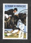 Sellos de Africa - Santo Tomé y Principe -  1217 - Caballo