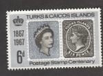 Sellos de America - Islas Turcas y Caicos -  Centenario servio postal