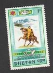 Sellos de Asia - Bhután -  Centenario de la UPU