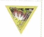 Stamps Uruguay -  Plumerillo rosado
