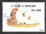 Stamps : America : Saint_Lucia :  Perro y Gato