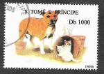 Stamps São Tomé and Príncipe -  1242 - Perro y Gato