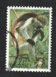 Stamps Tanzania -  3337 - Mono de color rojo