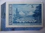 Sellos de America - Argentina -  Tierra del Fuego - Riqueza Austral - Industria-Torre-Ganadería-Bosque.