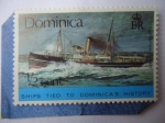 sellos de America - Dominica -  Ships Tied To  Dominicas´s  History - Royal Mail steamert