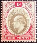 Stamps : Africa : Nigeria :  Nigeria del Sur. 1904. Edward VII