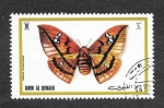 Sellos del Mundo : Asia : Emiratos_Árabes_Unidos : Mi624A - Mariposas