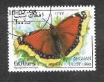Stamps Afghanistan -  Mariposas