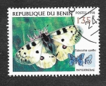 Sellos del Mundo : Africa : Benin : 1107A - Mariposas