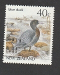 Stamps New Zealand -  Pato azul