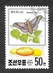 Sellos del Mundo : Asia : Corea_del_norte : 2994 - Mariposa