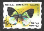 Sellos del Mundo : Africa : Madagascar : 1082 - Mariposa