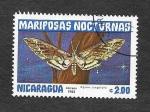 Sellos del Mundo : America : Nicaragua : 1235 - Mariposas Nocturnas