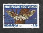 Stamps : America : Nicaragua :  1235 - Mariposas Nocturnas