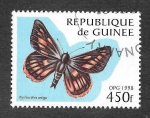Stamps : Africa : Guinea :  1428 - Mariposa