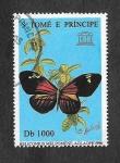 Sellos del Mundo : Africa : Santo_Tomé_y_Principe : 1275 - Mariposa (UNESCO)
