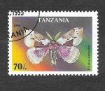 Stamps Tanzania -  1445 - Mariposa