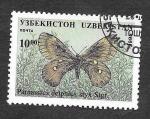 Stamps Uzbekistan -  82 - Mariposa