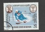 Sellos de Asia - Emiratos Árabes Unidos -  Competición de ski