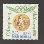 Stamps Romania -  Juegos Olímpicos Melbourne 56