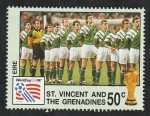 Stamps : America : Saint_Vincent_and_the_Grenadines :  2118 - Mundial de fútbol Estados Unidos 94, Selección de Irlanda