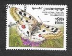 Sellos de Asia - Camboya -  1829 - Mariposas