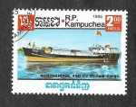 Stamps : Asia : Cambodia :  625 - Barco