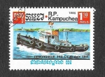 Stamps : Asia : Cambodia :  624 - Barco