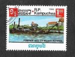 Stamps : Asia : Cambodia :  623 - Barco