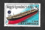 Stamps : Asia : Cambodia :  864 - Barco