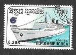 Stamps : Asia : Cambodia :  860 - Barco