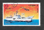 Stamps : Asia : North_Korea :  1693 - Barco