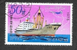Stamps : Asia : North_Korea :  1697 - Barco